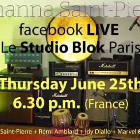 FACEBOOK LIVE thursday 25th,2020, 6.30pm